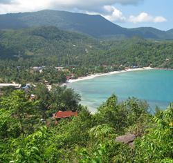 Thong Nain ranta saaren luoteisosassa.